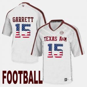 A&M Myles Garrett Jersey Men's #15 US Flag Fashion NCAA White 505289-820