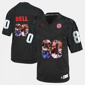 Player Pictorial For Men Nebraska Cornhuskers Kenny Bell Jersey #80 Black Player 384499-965