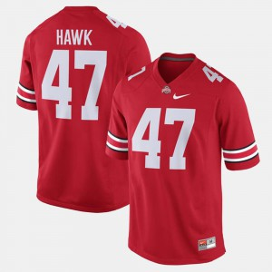 Alumni Football Game Scarlet Official #47 For Men Ohio State A.J. Hawk Jersey 751167-230