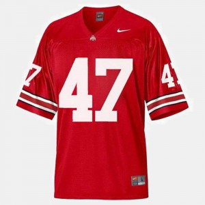 #47 Embroidery For Men College Football Red OSU Buckeyes A.J. Hawk Jersey 140753-944