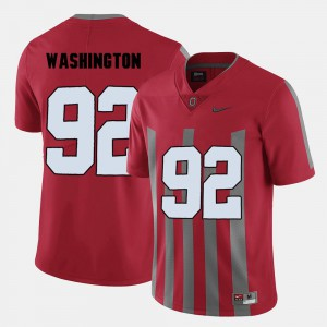 Red #92 Stitch Buckeye Adolphus Washington Jersey Men College Football 291489-215