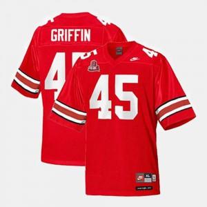 Buckeye Archie Griffin Jersey Red Alumni College Football #45 Kids 346687-206