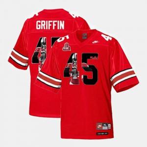 OSU Archie Griffin Jersey Scarlet For Men's Alumni #45 Throwback 686624-536