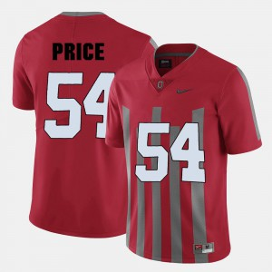 Red #54 Embroidery College Football Ohio State Buckeyes Billy Price Jersey For Men 706046-732