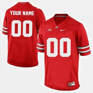 College For Men's Buckeyes Custom Jersey Red College Football #00 954255-500