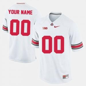 Buckeyes Custom Jerseys Men College Football Embroidery #00 White 580697-897