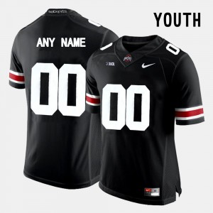 Embroidery Black #00 OSU Customized Jersey Youth College Limited Football 258663-933