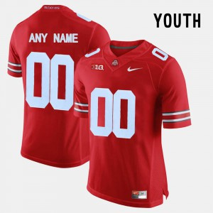 Red For Kids College Limited Football Player #00 Ohio State Customized Jerseys 838537-631