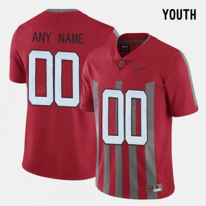 Ohio State Customized Jersey #00 Red Youth(Kids) Throwback University 473362-837