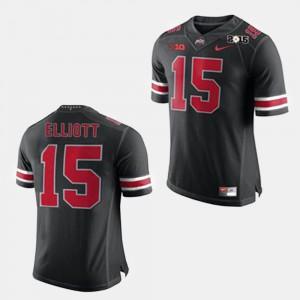 Player #15 College Football OSU Buckeyes Ezekiel Elliott Jersey Black Men's 368252-876