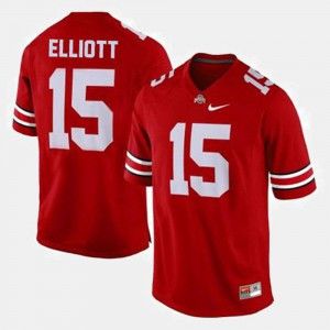 University Men Ohio State Ezekiel Elliott Jersey College Football #15 Red 642364-850