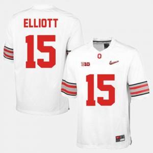 College Football OSU Ezekiel Elliott Jersey Men's College White #15 451719-287