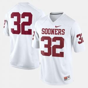 #32 University Of Oklahoma Jersey Kids College Football Stitched White 477052-585