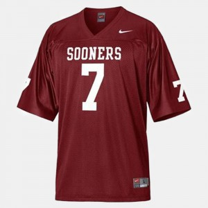 Kids #7 College Football Player Oklahoma Sooners DeMarco Murray Jersey Red 826913-515