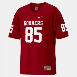 #85 Red Oklahoma Sooners Ryan Broyles Jersey College Football For Kids Official 499522-959