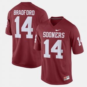 University Crimson Alumni Football Game OU Sooners Sam Bradford Jersey #14 Men 893535-574