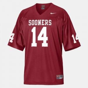 #14 NCAA Men College Football Red OU Sam Bradford Jersey 215004-200
