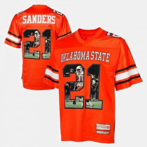 OK State Barry Sanders Jersey Orange For Men's #21 Alumni Player Pictorial 627090-963