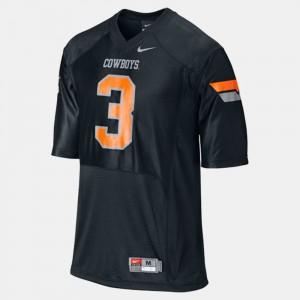 #3 College OSU Brandon Weeden Jersey For Men Black College Football 838451-537