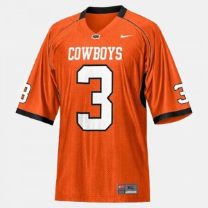 Oklahoma State Cowboys Brandon Weeden Jersey For Men's Stitched #3 Orange College Football 428938-758