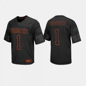 #1 Mens Black NCAA OSU Jersey College Football 747633-583