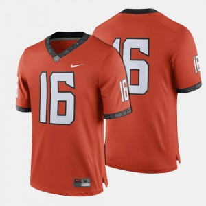 #16 College Football Cowboys Jersey Orange For Men Official 181580-953