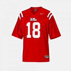 For Men's Rebels Archie Manning Jersey College Football #18 Red College 954567-665