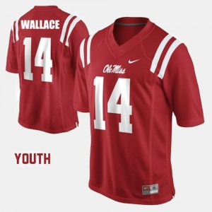 #14 Red Ole Miss Bo Wallace Jersey College Football Youth Alumni 909936-571
