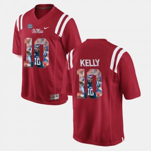 High School Red Player Pictorial #10 Mens Ole Miss Chad Kelly Jersey 782116-656