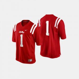 College Football Mens #1 University Cardinal University of Mississippi Jersey 788252-943