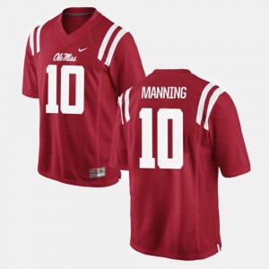 College Red College Football Ole Miss Eli Manning Jersey #10 For Men 214801-159