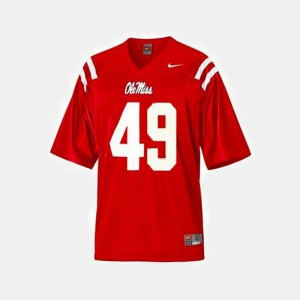 For Men's Red Ole Miss Patrick Willis Jersey #49 NCAA College Football 237736-143