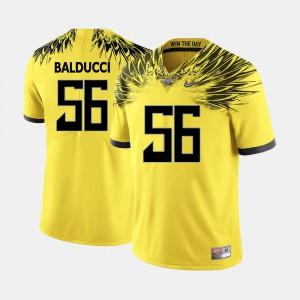 #56 Oregon Duck Alex Balducci Jersey University Yellow College Football Men's 518765-724