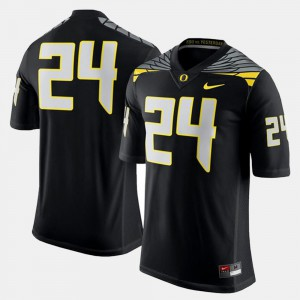 Black For Men's College Football UO Jersey #24 Stitched 987497-248