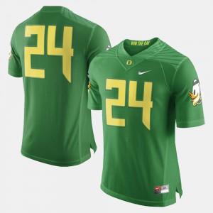 Men Green College Football University University of Oregon Jersey #24 825504-455