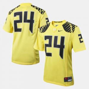UO Jersey Kids College Football NCAA Yellow #24 246798-608