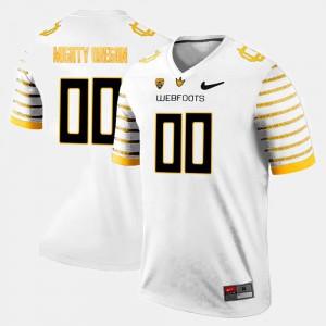 White University College Limited Football Men Oregon Duck Custom Jersey #00 430463-597