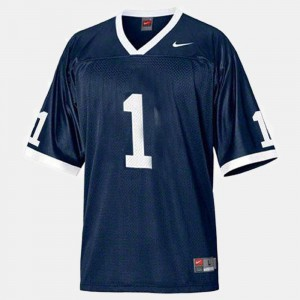 #1 College Football Men College Penn State Jersey Blue 252947-195