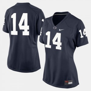 College Football Stitch Penn State Nittany Lions Jersey Women #14 Navy Blue 139175-937