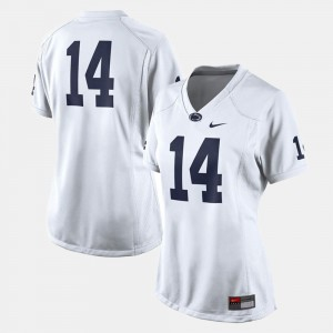Alumni White #14 Ladies College Football Nittany Lions Jersey 276218-615