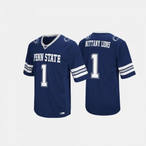 Stitch Hail Mary II Navy For Men's Nittany Lions Jersey #1 856987-610