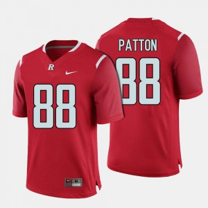 College Football Red #88 Rutgers Andre Patton Jersey Men's College 601936-773