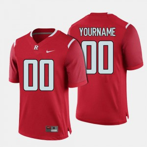 Official College Football #00 Rutgers University Customized Jersey For Men Red 598589-832
