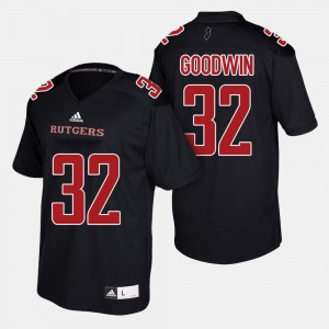 For Men #32 College Football Player Black Scarlet Knights Justin Goodwin Jersey 547799-811