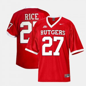 Stitched College Football Red Rutgers University Ray Rice Jersey #27 Kids 528497-433