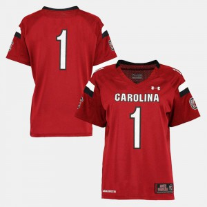Garnet Womens College Football College South Carolina Gamecocks Jersey #1 715873-802