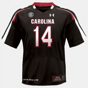 College College Football USC Gamecocks Connor Shaw Jersey Black #14 Kids 687351-420