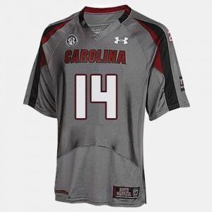 University of South Carolina Connor Shaw Jersey College Football Gray High School Kids #14 900712-718