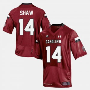 Red Men's Player SC Connor Shaw Jersey #14 College Football 762411-278