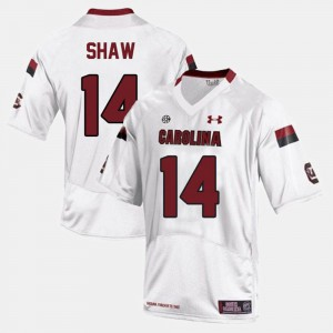 For Men #14 USC Gamecocks Connor Shaw Jersey College Football White Player 570212-638